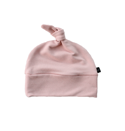 Knotted Beanie Blush