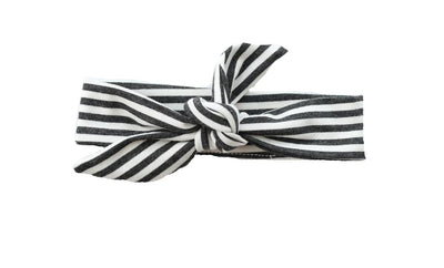 Knotted Headband Charcoal Stripe