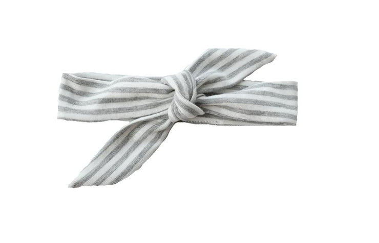 Knotted Headband It Gray Stripe