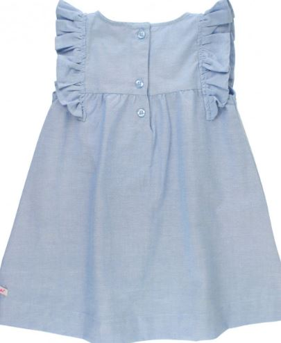 Blue Chambray Jumper Dress
