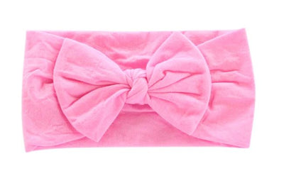 Bubblegum Pink Nylon Bow Headwrap
