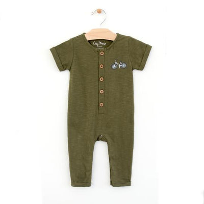 Long Bike Romper - Forest Green