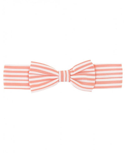 Coral Stripe Bow Headband
