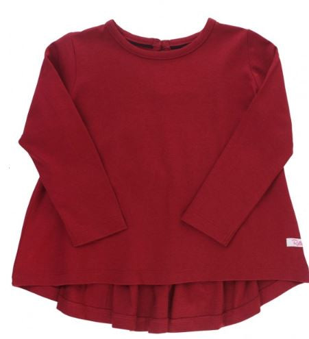 Cranberry Long Sleeve Bow-Back Top