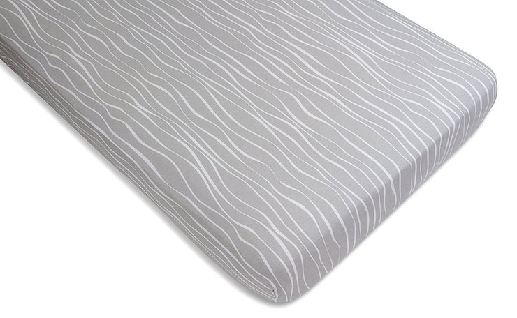 Crib Sheet Set | Grey and White Abstract