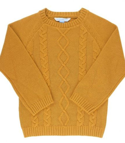 Golden Cable Knit Sweater