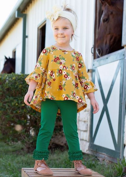 Golden Gardenias High Low Bella Top