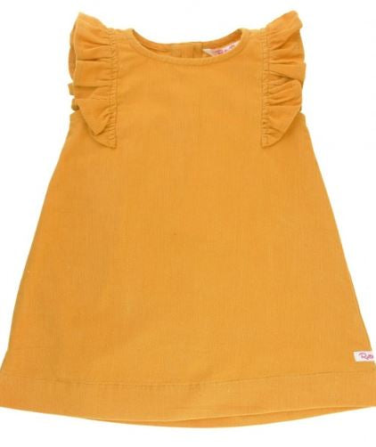 Golden Yellow Corduroy Jumper Dress