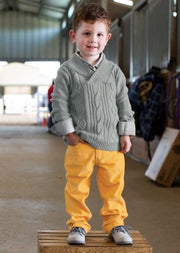 Golden Yellow Straight Corduroy Pants