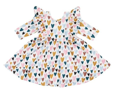 I Heart You Ruffle Twirl Dress