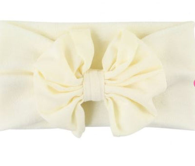 Ivory Big Bow Headband - One Size