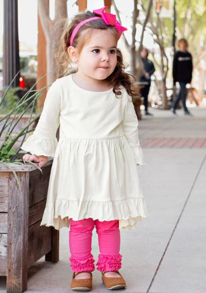 Ivory High Low Ruffle Tunic