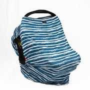Sunscreen Car Seat Cover - Emerald Stripe