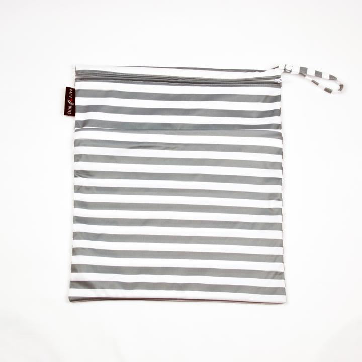 Wet Bag - Gray Stripe