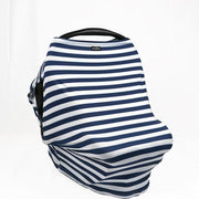 Sunscreen Car Seat Cover - Navy Stripe