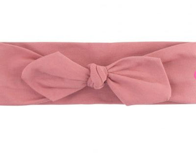 Mauve Knotted Bow Headband