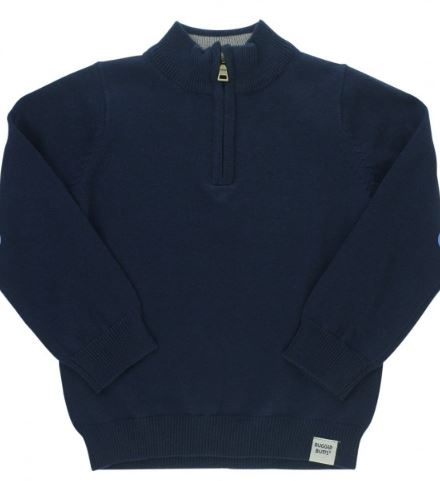 Navy Quarter-Zip Sweater