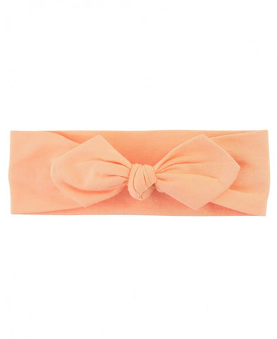 Peach Knotted Bow Headband