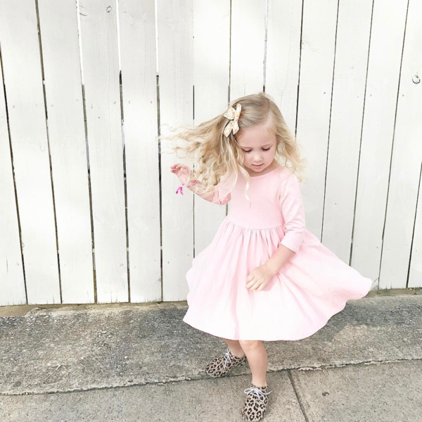 Petal Pink Twirl Dress