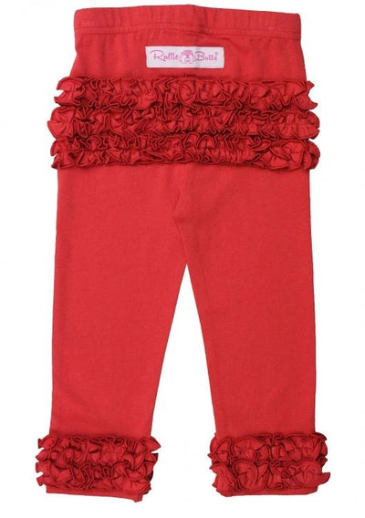 Red Everyday Ruffle Legging