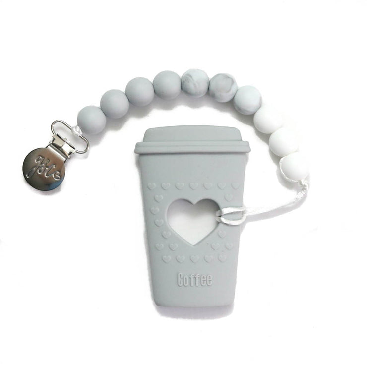Clip on Teether - Coffee Cup