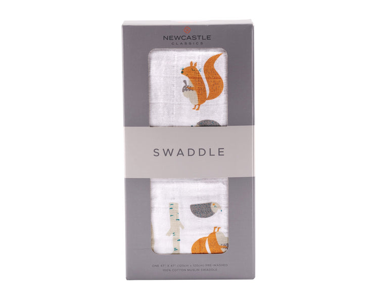 Newcastle Classics - Forest Friends Swaddle