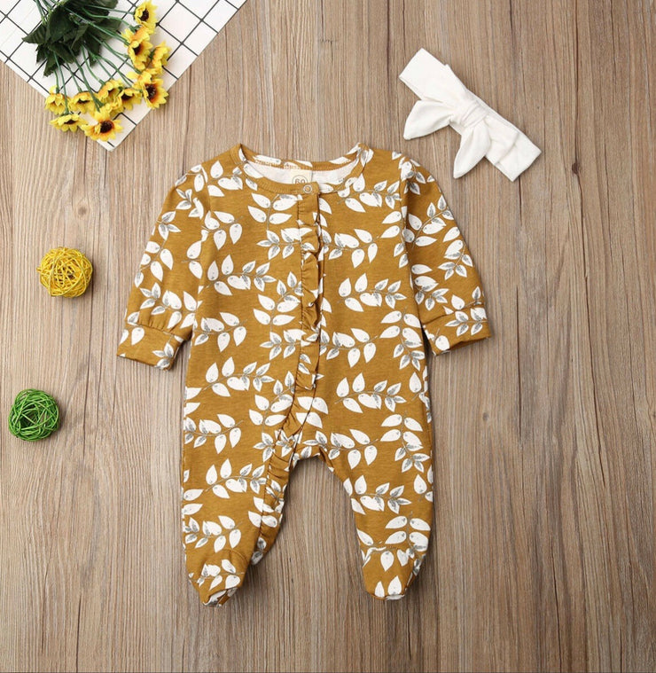 Long Sleeve Flower Footies