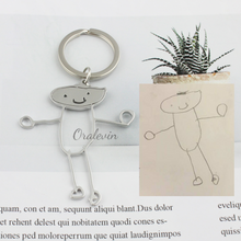 Load image into Gallery viewer, Customized Children's Drawing Necklace - The Gyftr: Get access to handpicked gifts from global makers, artists and creatives with a story to share. Free Worldwide shipping!