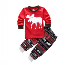 Load image into Gallery viewer, Family Elk Christmas Pajamas Set - The Gyftr: Get access to handpicked gifts from global makers, artists and creatives with a story to share. Free Worldwide shipping!