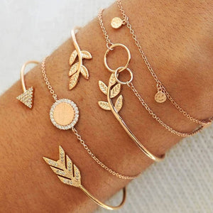 Adjustable Charm Stack Bracelets - The Gyftr: Get access to handpicked gifts from global makers, artists and creatives with a story to share. Free Worldwide shipping!