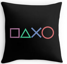 Load image into Gallery viewer, Funny Playstation Buttons Throw Pillow Cover - The Gyftr: Get access to handpicked gifts from global makers, artists and creatives with a story to share. Free Worldwide shipping!