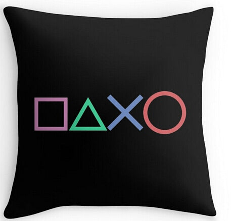Funny Playstation Buttons Throw Pillow Cover - The Gyftr: Get access to handpicked gifts from global makers, artists and creatives with a story to share. Free Worldwide shipping!