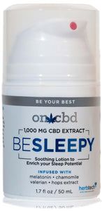 On CBD: Be Sleepy Lotion