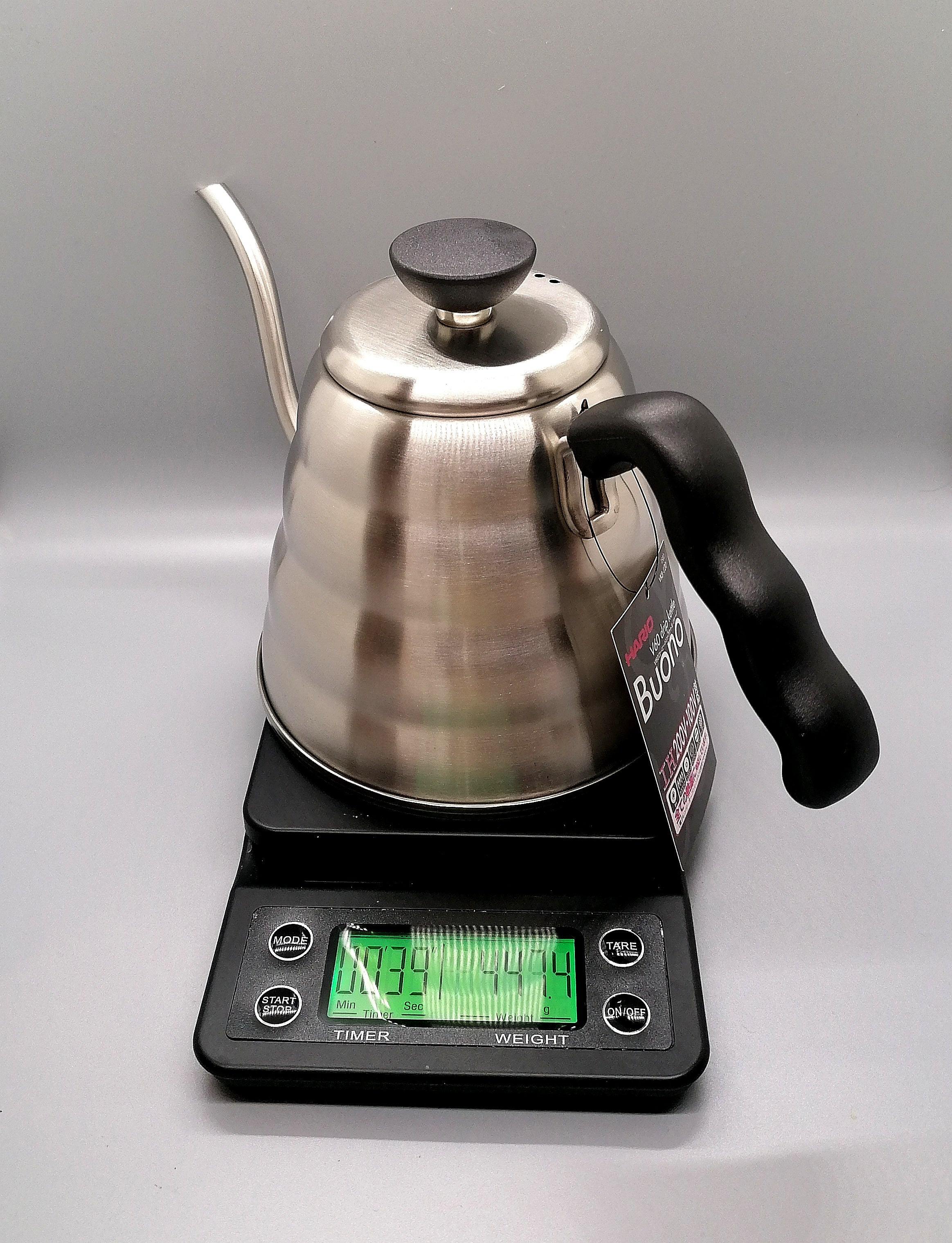Buono V60 Drip Kettle by Hario 1.2L Stainless Steel
