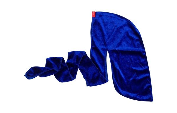 Summer Royal Blue Velvet Durag