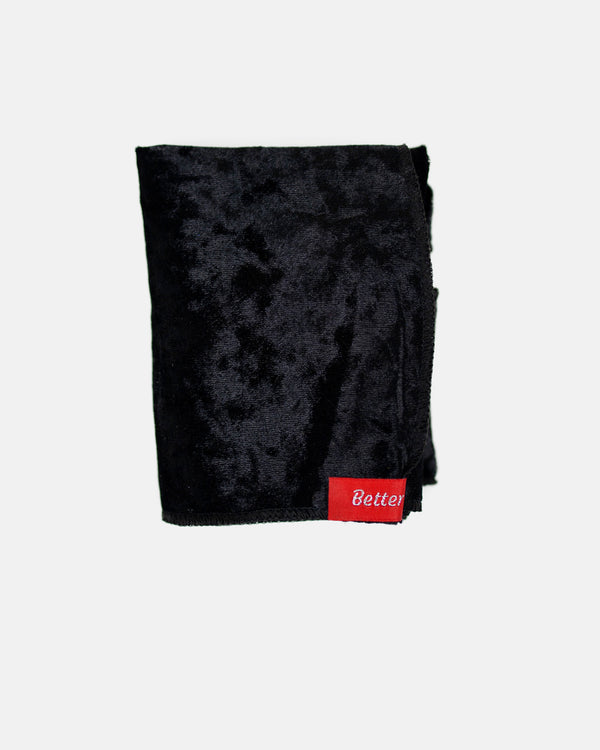 Black Crushed Velvet Durag