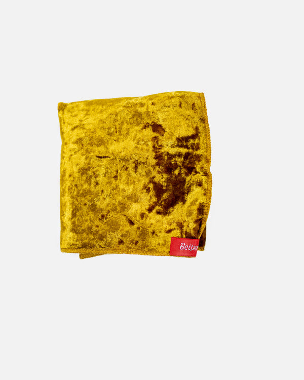 Gold Crushed Velvet Durag