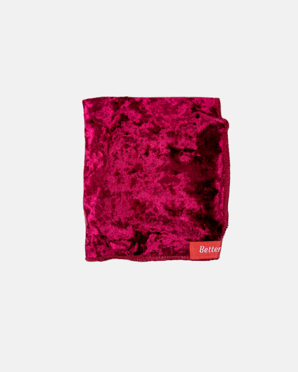 Burgundy Crushed Velvet Durag