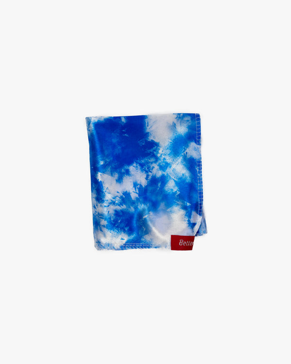 Blue and White Tie Dye Silky Durag