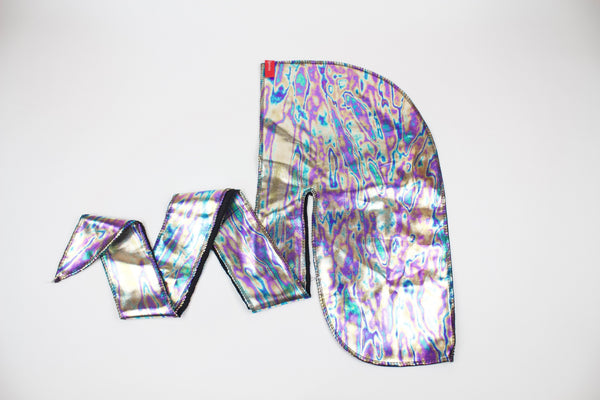 Shiny Watercolor Metallic Durag