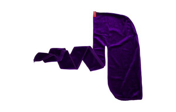 dark purple velvet durag