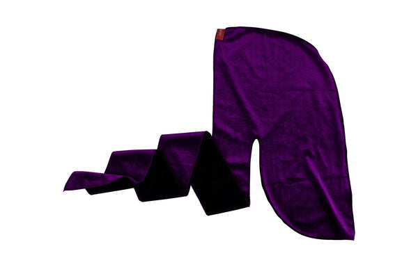 Black and Purple Two Tone Velvet Durag