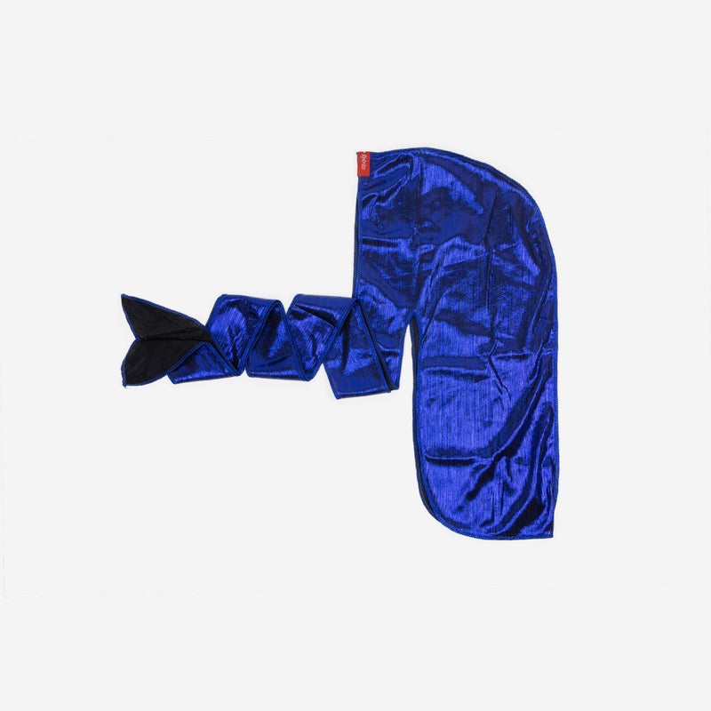 Shiny Royal Blue Stretch Satin Durag