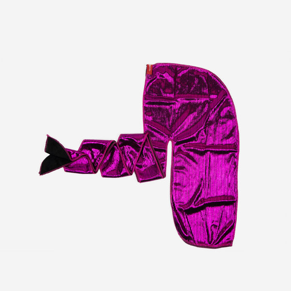 Shiny Magenta Stretch Satin Durag