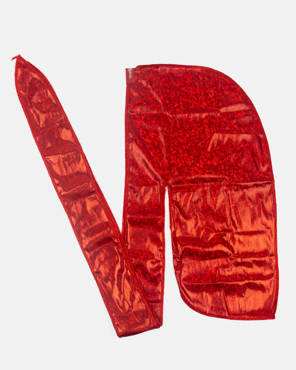 Ruby Red Stealth Holographic Durag