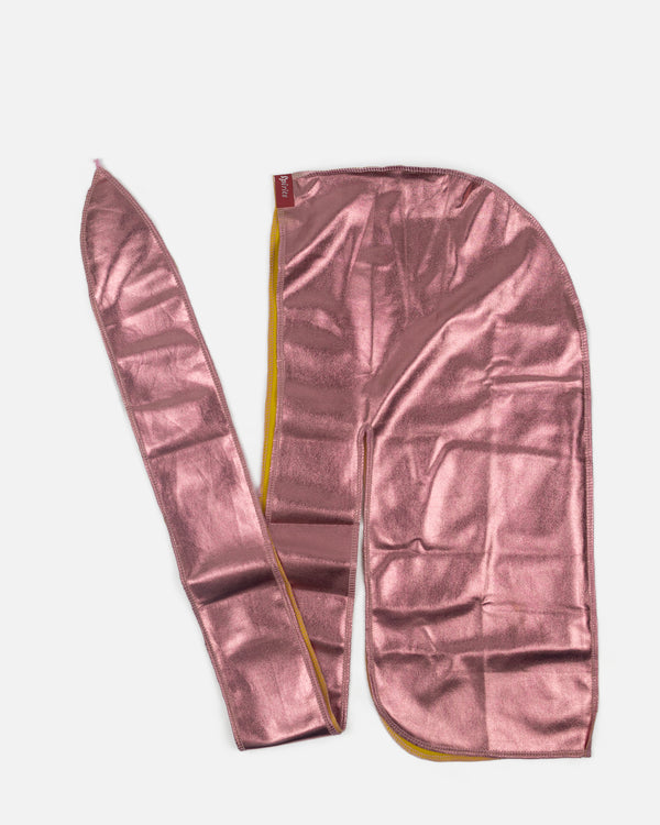 Rose Gold Metallic Silky Durag