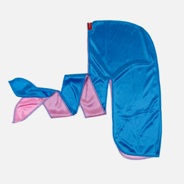 Blue and Pink Two Tone Silky Durag