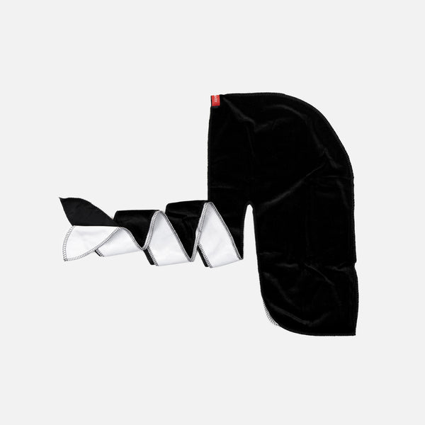 Black and White Two Tone Velvet Durag