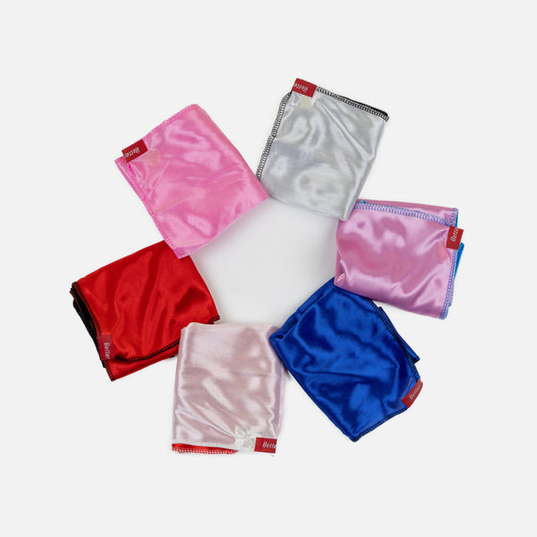 Pink and White Two Tone Silky Durag