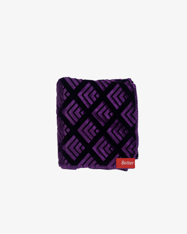 Deep Purple Geo-Pattern Velvet Durag